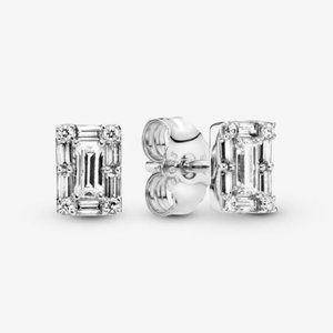 🥂Pandora Sparkling Square Halo Stud Earrings